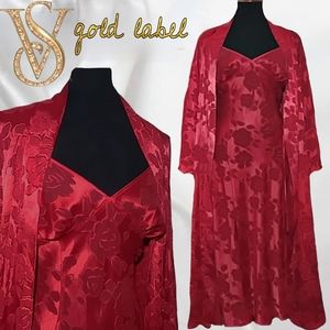 VTG Victoria's secret gold label robe & negligee